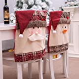 Bar Stools for Sale Near Me ASMGroup Christmas Chair Cover Case Pouch Gift Mr Santa/Snowman Xmas Holiday Party Home Seat Chair Party Table Case Slipcover Decor Santa Claus