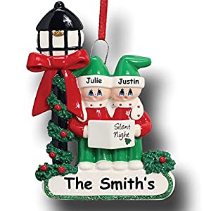 Rudolph and Me Personalized Family Christmas Carolers Christmas Ornament 109