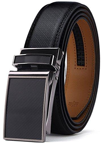 Belt for Men,Alderman Men's Click Ratchet Belt Of Genuine Leather,Wide 1 1/8