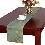 Jnseff Texture Art Pattern Color Table Runner, Kitchen Dining Table Runner 16 X 72 Inch For Dinner Parties, Events, Decor