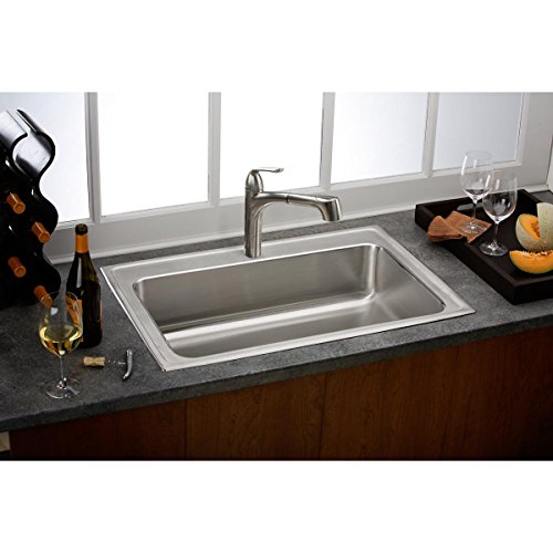 Elkay LKGT1041NK Gourmet Brushed Nickel Single Lever Pull-out Spray Kitchen Faucet