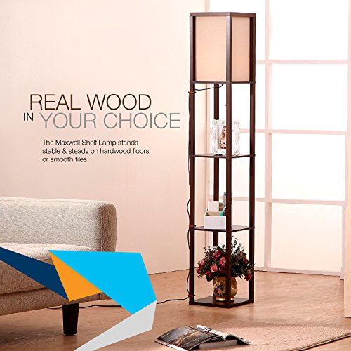 6de5c15eea435 Brightech - Maxwell Shelf Floor Lamp - Modern Mood Lighting for Your Living  Room and Bedroom