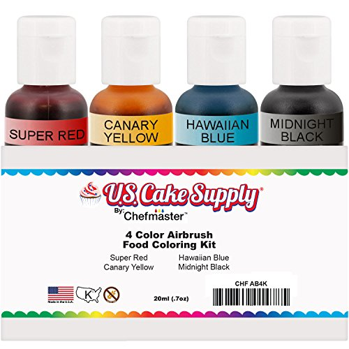 US Cake Supply by Chefmaster Airbrush Cake Color Set - The 4 Most ...