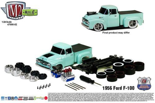 New 1:24 MODEL-KIT RELEASE 2 - 1956 FORD F-100 TRUCK Diecast Model Car By M2 Machines (1956 Ford Truck)