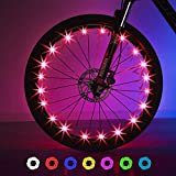 Exwell Bike Wheel Lights, 2018 Upgrade USB Rechargeable Automatic and Manual color changing Bike Lights, Safety Bike Light at Night,Switch 9 Modes LED Bike Accessories Lights,2-10 year old boy gifts