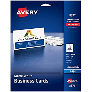 Amazon avery printable business cards inkjet printers 200 avery printable business cards inkjet printers 250 cards 2 x 35 8371 colourmoves