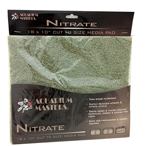 Professional Nitrate Remover Pad, 18 Inch By 10 Inch For Fresh Water & Saltwater Aquariums, Aquaculture, Terrariums & Hydroponics - Sold By Pidaz