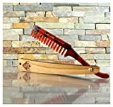 Wooden Straight Razor Beard and Mustache Comb.