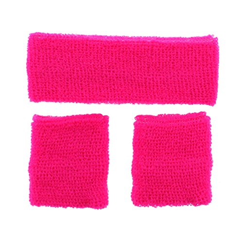 Zac's Alter Ego Sweatband Set - Headband & 2 Wristbands Neon -