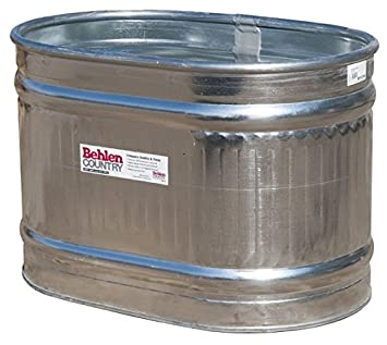 Behlen Country RE223 Galvanized Steel Round End Stock Tank, Approximately  67 Gallons
