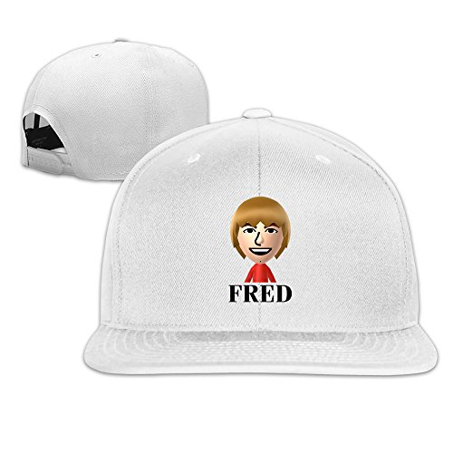 Beetful YouTube Fred Adjustable Snapback Hip-hop Baseball Cap White