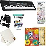 Homeschool Music - Learn to Play the Piano Pack (Disney Songs 5 Finger Bundle) - Includes Casio CTK 2550 Keyboard w/Adapter, learn 2 Play DVD/Book, Books & All-Inclusive Learning Essentials