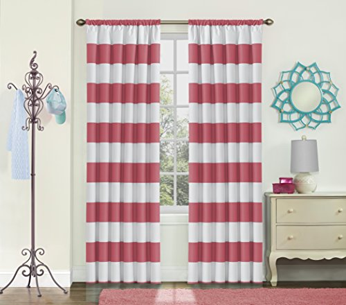Eclipse 15942042X063PNY Peabody 42-Inch by 63-Inch SingleWindow Curtain Panel, Peony (Panel Peony)