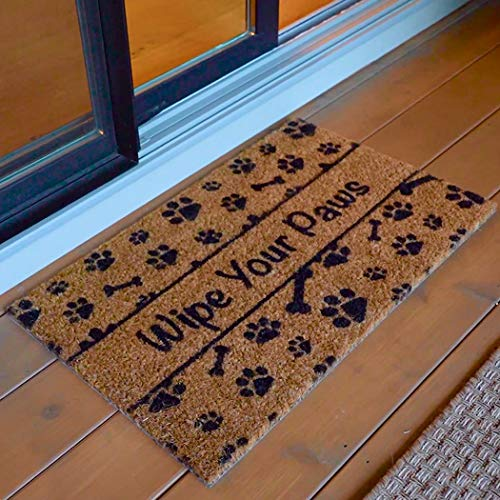 Stop dirt in its tracks with this pet-themed door mat