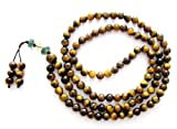 6mm Tiger Eye Beads Tibetan Buddhist Prayer Meditation 108 Japa Mala