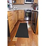 Ritz Accent Rug with Latex Backing, 20-Inch by 60-Inch Runner, Black