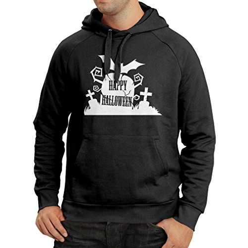 lepni.me Hoodie Halloween Graveyard Outfits - Costume Ideas - Cool Horror Design - All Saints' Eve - All Hallows' Evening (Small Black Multi (Cute Circus Costumes Ideas)