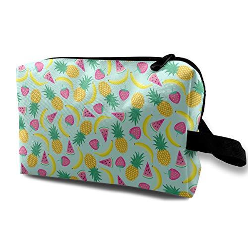 (Summer Fruit Cosmetic Bags Makeup Organizer Bag Pouch Zipper Purse Handbag Clutch Bag)