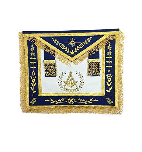 Masonic Grand Lodge Master Mason Apron Gold Machine Embroidery Apron