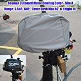 """Seamax Outboard Motor Cover (Size A: Girth 46"""", Height 14"""")"""