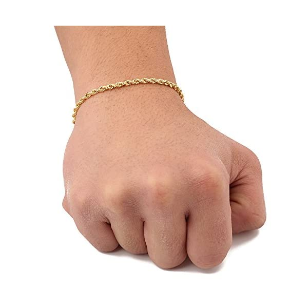 LoveBling-10K-Yellow-Gold-3mm-Solid-Diamond-Cut-Rope-Chain-Bracelet-with-Lobster-Lock-7-to-9