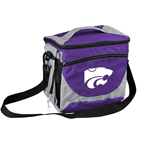 NCAA Kansas State Wildcats 24-Can Cooler with Bottle Opener and Front Dry Storage (Kansas State Wildcats Cooler)