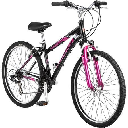 26' Schwinn Sidewinder Women's Mountain Bike, Matte Black/Pink