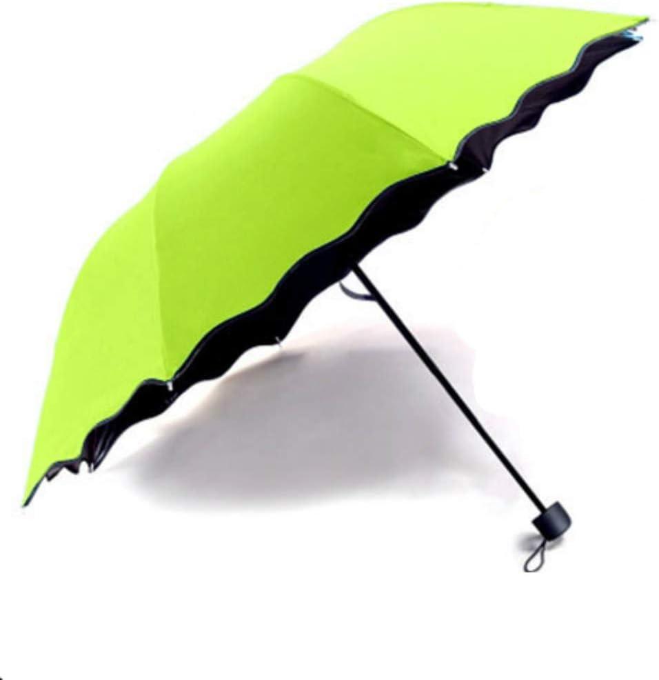 YYouRuiEncounter Paraguas de Flores de Agua Paraguas soleados Paraguas de Sol Plegable Creativo Protector Solar Paraguas de Sol Paraguas