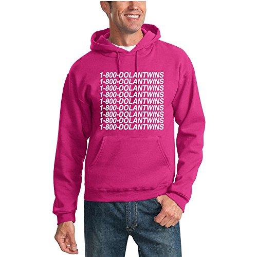 784192119 Galleon - 1-800-DolanTwins | Dolan Twins Vine Youtube Unisex Hooded  Sweatshirt Graphic Hoodie, Fuschia, 3XL