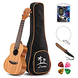 Product Description The Donner DUC-1 Ukulele is a great way to take laid-back tropical atmospheres anywhere. Whether you're strumming in a hammock on the beach or kicked back in a recliner in your living room, a ukulele is a great way to spread some ...
