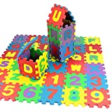 Perman 36Pcs Kids Baby Number Alphabet Learn Educational Puzzle Foam Mat