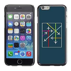 PC/Aluminum Funda Carcasa protectora para Apple Iphone 6 Plus 5.5 Plane Airplane Traffic Controller Teal Flight / JUSTGO PHONE PROTECTOR