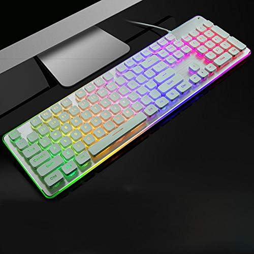 Yan Fei Wired Keyboard USB Notebook Desktop Computer Keyboard//Home Waterproof Multi-Function Keyboard Feeling Keyboard Color : A