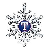 MLB Texas Rangers Traditional Snowflake Ornament