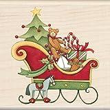 Inkadinkado Wood Stamp, Santa's Sleigh