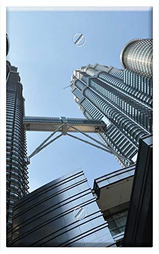Single-Gang Blank Wall Plate Cover - Petronas Towers Tall Building Skyscraper ()