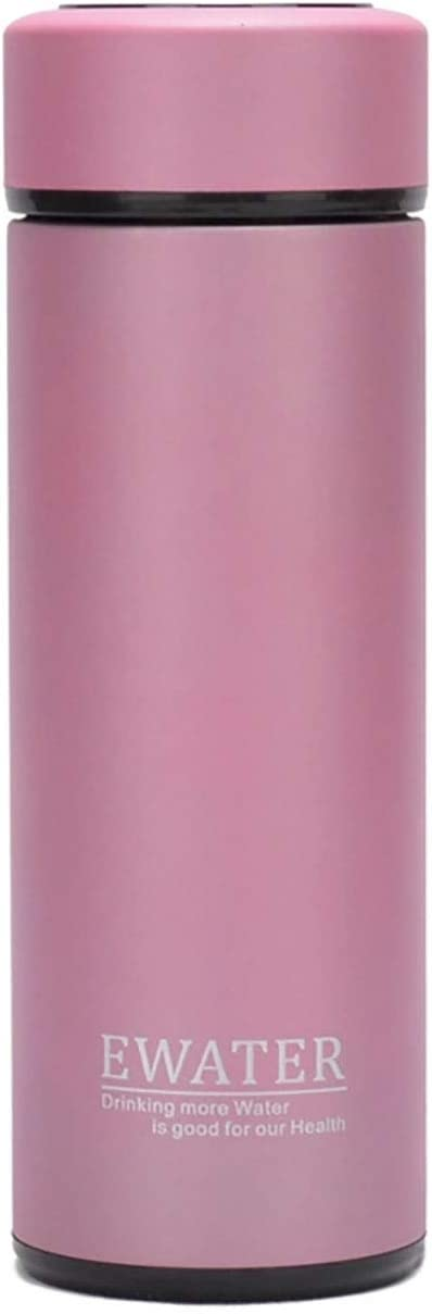 Glass Liner Vacuum Flask Stainless Steel Water Bottle Insulated Travel Coffee Thermos Mug,12oz,11oz,9oz Available (9oz, Pink)