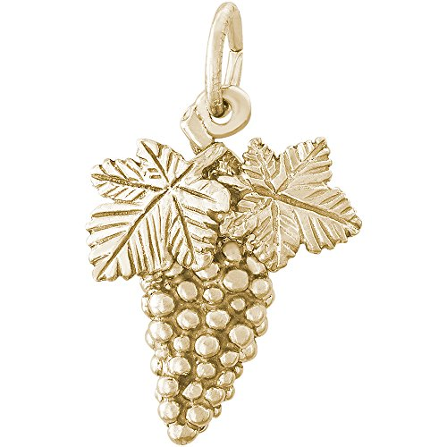 Rembrandt Charms 14K Yellow Gold Grapes Charm (0.73 x 0.58 inches) by Rembrandt Charms