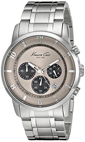 (Kenneth Cole New York Men's Quartz Stainless Steel Case Stainless Steel Bracelet Silver,(Model:KC9292))