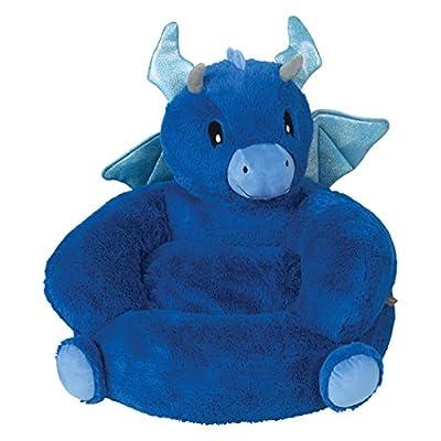 Trend Lab Children's Plush Character Chair, Dragon, Blue
