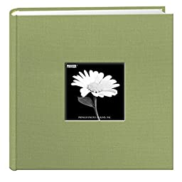Fabric Frame Cover Photo Album 200 Pockets Hold 4x6 Photos, Sage Green