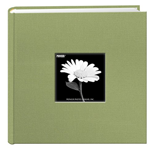 Fabric Frame Cover Photo Album 200 Pockets Hold 4x6 Photos, Sage Green (Photo Frame Sage)