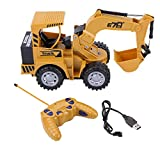 5 Channel Excavator, RC Tractor Remote Control Digger Construction Truck Toy