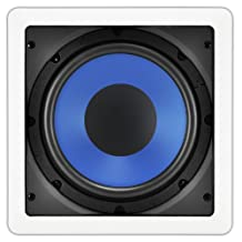OSD Audio IWS8 Custom Series In-Wall Passive Subwoofer, White (White)