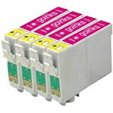 4 Compatible Magenta XL Printer Ink Cartridges to replace T1633 (16XL Series) for use in Epson Workforce WF-2010W, WF-2510WF, WF-2520NF, WF-2530WF, WF-2540WF, WF-2630WF, WF-2650DWF, WF-2660DWF