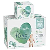 Pampers Pure Protection Diapers Size 4 150 Count with Aqua Pure 6X Pop-Top Sensitive Water Baby Wipes - 336 Count