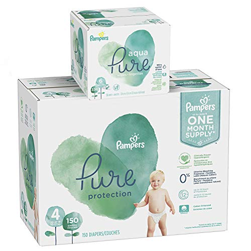 Pampers Pure Protection Diapers Size 4 150 Count with Aqua Pure 6X Pop-Top Sensitive Water Baby Wipes - 336 Count by Pampers (Image #8)