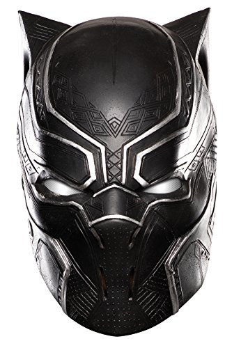 [Marvel Men's Captain America: Civil War Black Panther Full Vinyl Mask, Multi, One Size] (Black Panther Costume Marvel)