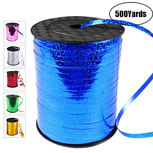 500 Yards Curling Ribbon-Balloon Ribbon-Balloon String for Art&Craft Decor,Gift Wrapping,Ribbons and Bows for Birthday Gifts (Blue)