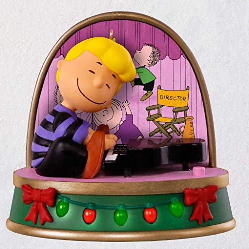 Hallmark HMK 2018 Keepsake A Charlie Brown Christmas Schroeder Ornament with Sound and Light